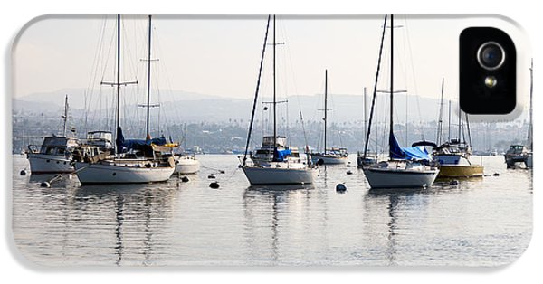 Newport Harbor iPhone 5 Cases - Newport Beach Bay Harbor California iPhone 5 Case by Paul Velgos