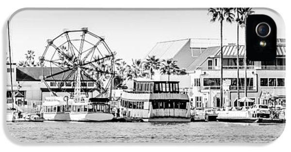 Newport Harbor iPhone 5 Cases - Newport Beach Fun Zone Panoramic Photo iPhone 5 Case by Paul Velgos