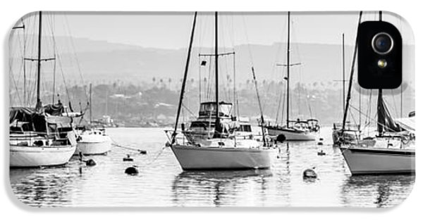 Newport Harbor iPhone 5 Cases - Newport Beach Harbor Boats Panorama Photo iPhone 5 Case by Paul Velgos