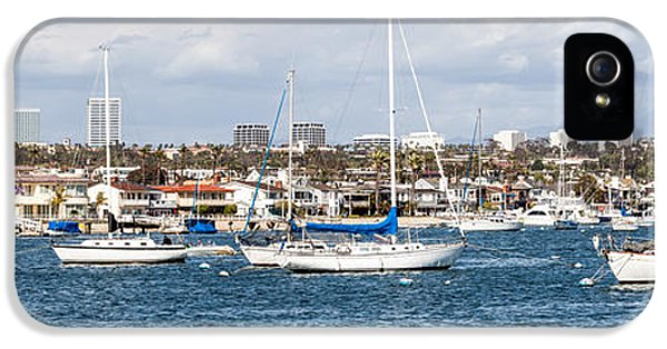 Newport Harbor iPhone 5 Cases - Newport Beach Panorama iPhone 5 Case by Paul Velgos