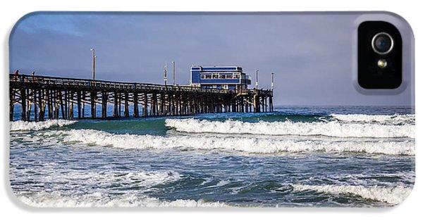 Newport Beach iPhone 5 Cases - Newport Beach Pier in Orange County California iPhone 5 Case by Paul Velgos