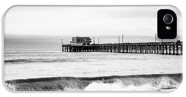 Newport Beach iPhone 5 Cases - Newport Beach Pier iPhone 5 Case by Paul Velgos