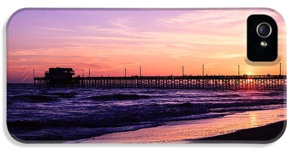 Newport Beach iPhone 5 Cases - Newport Beach Pier Sunset in Orange County California iPhone 5 Case by Paul Velgos