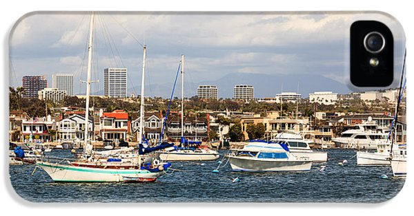 Newport Harbor iPhone 5 Cases - Newport Beach Skyline in Orange County California iPhone 5 Case by Paul Velgos