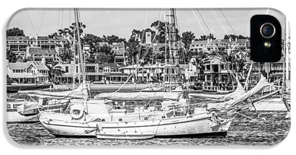 Newport Harbor iPhone 5 Cases - Newport Beach Skyline Panoramic Photo iPhone 5 Case by Paul Velgos
