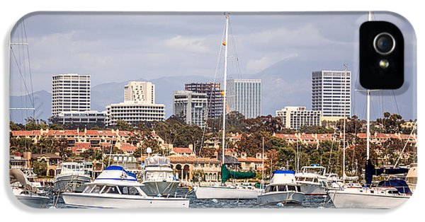 Newport Harbor iPhone 5 Cases - Newport Beach Skyline  iPhone 5 Case by Paul Velgos