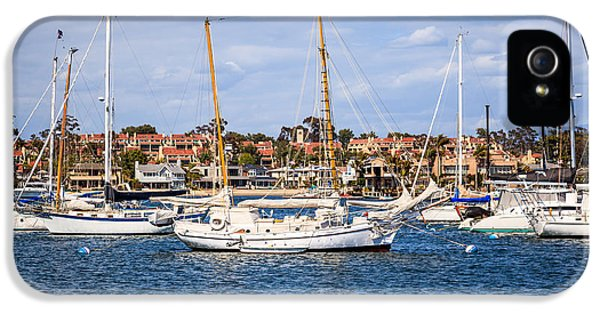 Newport Harbor iPhone 5 Cases - Newport Harbor Boats in Orange County California iPhone 5 Case by Paul Velgos