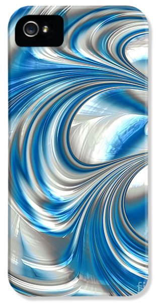 Creativity iPhone 5 Cases - Nickel Blue Abstract iPhone 5 Case by John Edwards