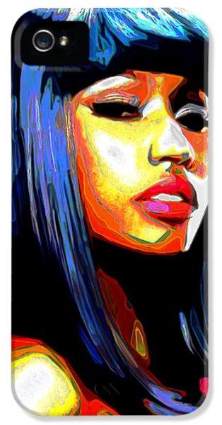 Nicki Minaj iPhone 5 Cases - Nicki Minaj iPhone 5 Case by  Fli Art