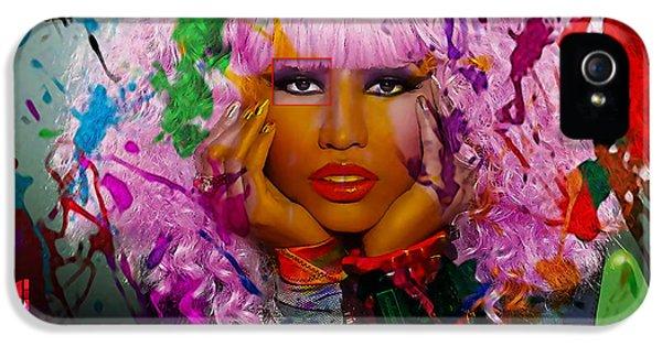Nicki Minaj iPhone 5 Cases - Nicki Minaj Painting iPhone 5 Case by Marvin Blaine