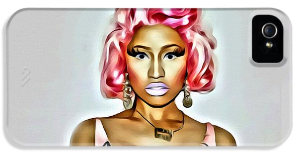 Nicki Minaj iPhone 5 Cases - Nicki Minaj Pink iPhone 5 Case by Florian Rodarte