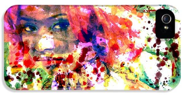 Nicki Minaj iPhone 5 Cases - Nicki Minaj Wet Paint Splatter iPhone 5 Case by Brian Reaves