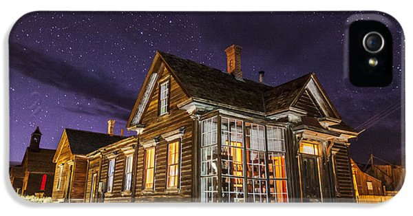 Haunted Houses iPhone 5 Cases - Night at the Cain House iPhone 5 Case by Cat Connor