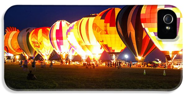 Central Il iPhone 5 Cases - Night Glow Hot Air Balloons iPhone 5 Case by Thomas Woolworth