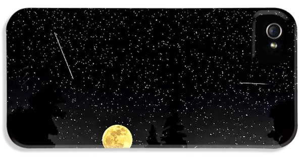Space iPhone 5 Cases - Night Moves iPhone 5 Case by Steve Harrington