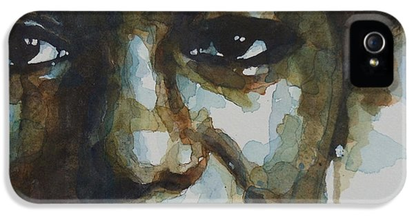 Eyes iPhone 5 Cases - Nina Simone iPhone 5 Case by Paul Lovering
