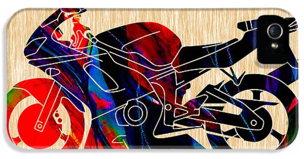 Ninja Motorcycle Painting IPhone 5 / 5s Case by Marvin Blaine