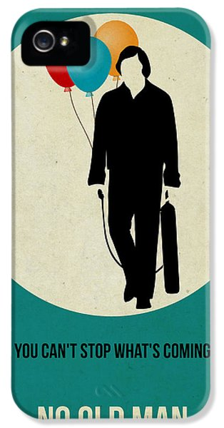No iPhone 5 Cases - No Country for Old Man Poster 2 iPhone 5 Case by Naxart Studio