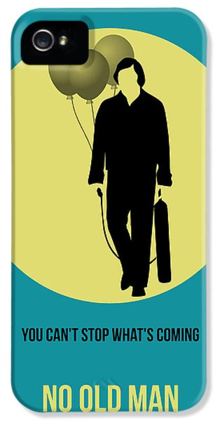 No iPhone 5 Cases - No Country for Old Man Poster 5 iPhone 5 Case by Naxart Studio
