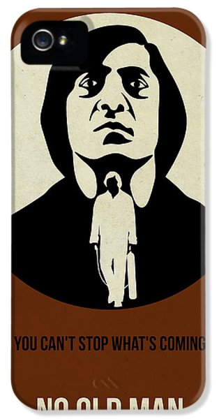 No iPhone 5 Cases - No Country for Old Man Poster iPhone 5 Case by Naxart Studio