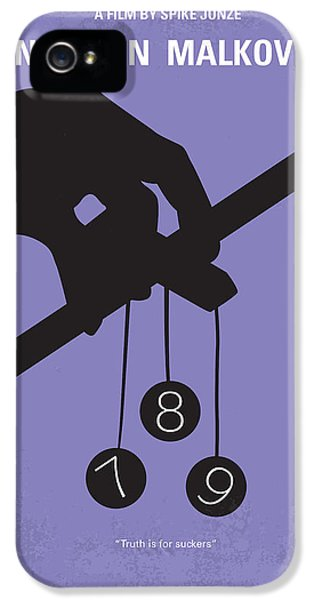 Mind iPhone 5 Cases - No009 My Being John Malkovich minimal movie poster iPhone 5 Case by Chungkong Art