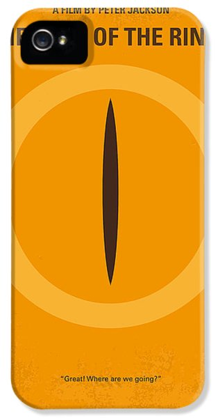 No039 My Lord Of The Rings Minimal Movie Poster IPhone 5 / 5s Case by Chungkong Art
