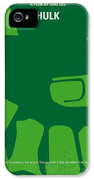 Monster iPhone 5 Cases - No040 My HULK minimal movie poster iPhone 5 Case by Chungkong Art