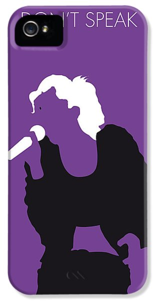 No iPhone 5 Cases - No051 MY NO DOUBT Minimal Music poster iPhone 5 Case by Chungkong Art