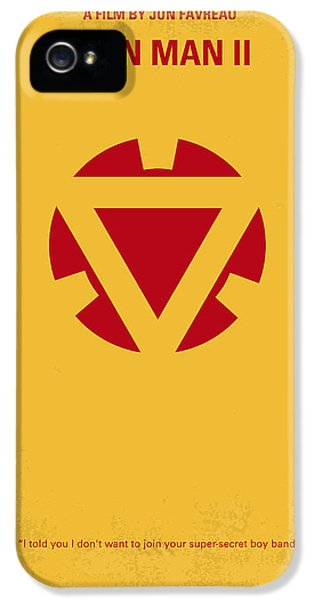 Sci Fi Art iPhone 5 Cases - No113 My Iron man minimal movie posterNo113-2 My Iron man 2 minimal movie poster iPhone 5 Case by Chungkong Art