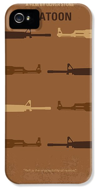 Oliver Stone iPhone 5 Cases - No115 My Platoon minimal movie poster iPhone 5 Case by Chungkong Art