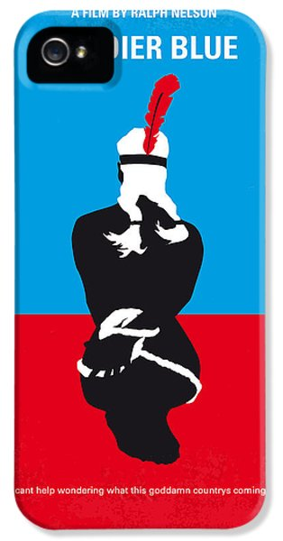 Horn iPhone 5 Cases - No136 My SOLDIER BLUE minimal movie poster iPhone 5 Case by Chungkong Art