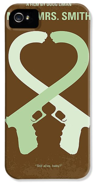 Guns iPhone 5 Cases - No187 My Mr and Mrs. Smith minimal movie poster iPhone 5 Case by Chungkong Art