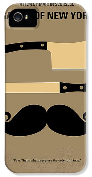 No195 My Gangs Of New York Minimal Movie Poster IPhone 5 / 5s Case by Chungkong Art