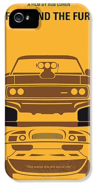 Muscle Car iPhone 5 Cases - No207 My The Fast and the Furious minimal movie poster iPhone 5 Case by Chungkong Art