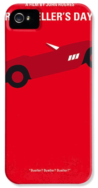 Ferrari iPhone 5 Cases - No292 My Ferris Buellers day off minimal movie poster iPhone 5 Case by Chungkong Art