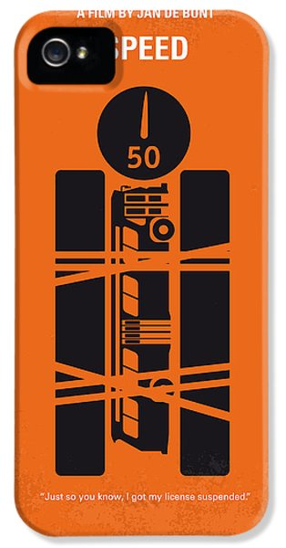 Speed iPhone 5 Cases - No330 My SPEED minimal movie poster iPhone 5 Case by Chungkong Art
