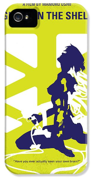 Ghost iPhone 5 Cases - No366 My Ghost in the Shell minimal movie poster iPhone 5 Case by Chungkong Art