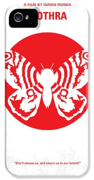 Sci Fi Art iPhone 5 Cases - No391 My Mothra minimal movie poster iPhone 5 Case by Chungkong Art