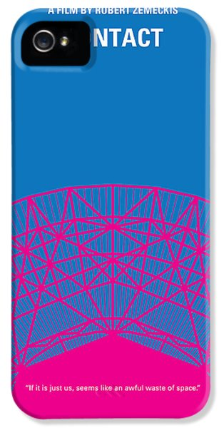 Science Print iPhone 5 Cases - No416 My Contact minimal movie poster iPhone 5 Case by Chungkong Art