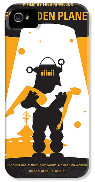 Spaceships iPhone 5 Cases - No418 My Forbidden Planet minimal movie poster iPhone 5 Case by Chungkong Art