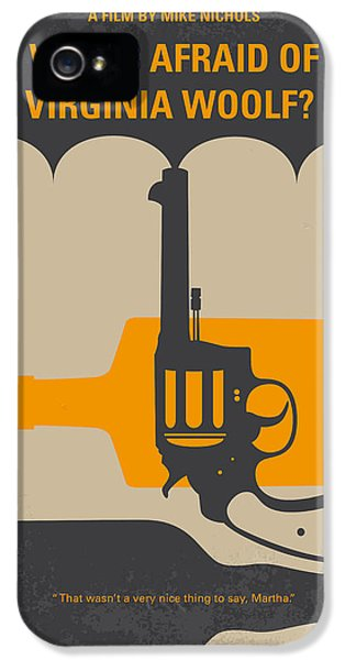 Who iPhone 5 Cases - No426 My Whos Afraid of Virginia Woolf minimal movie poster iPhone 5 Case by Chungkong Art