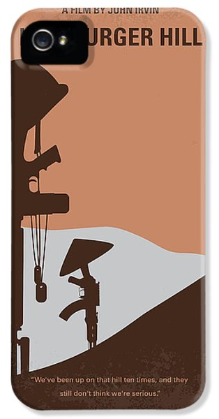 Vietnam Wall iPhone 5 Cases - No428 My Hamburger Hill minimal movie poster iPhone 5 Case by Chungkong Art