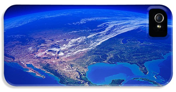 Earth iPhone 5 Cases - North America seen from space iPhone 5 Case by Johan Swanepoel