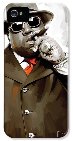 Hip Hop iPhone 5 Cases - Notorious Big - Biggie Smalls Artwork 3 iPhone 5 Case by Sheraz A