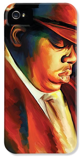 Hip Hop iPhone 5 Cases - Notorious Big - Biggie Smalls Artwork iPhone 5 Case by Sheraz A