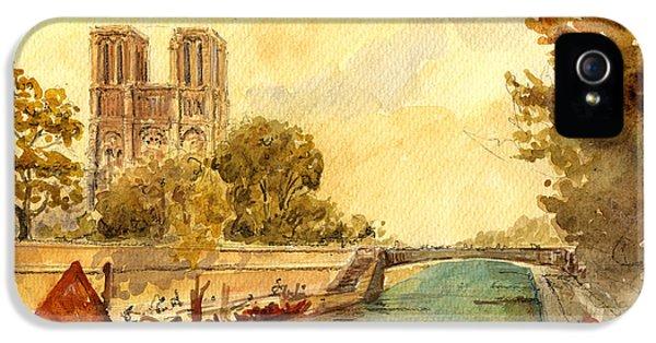Notre Dame Paris. IPhone 5 / 5s Case by Juan  Bosco
