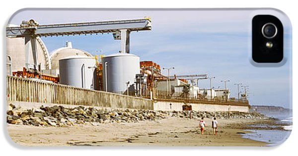 Fuel And Power Generation iPhone 5 Cases - Nuclear Power Plant On The Beach, San iPhone 5 Case by Panoramic Images