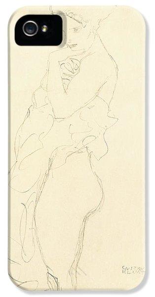 Nudity iPhone 5 Cases - Nude iPhone 5 Case by Gustav Klimt