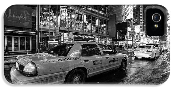 Times Square iPhone 5 Cases - NYC cab times square iPhone 5 Case by John Farnan