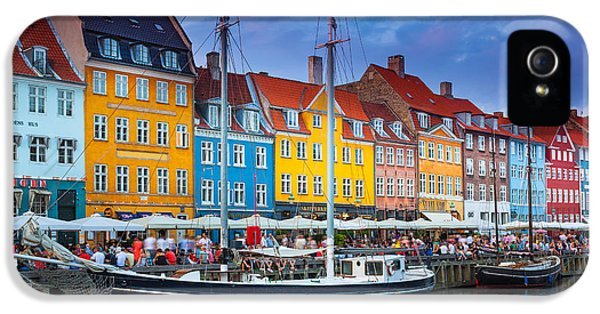 Danish iPhone 5 Cases - Nyhavn Canal iPhone 5 Case by Inge Johnsson